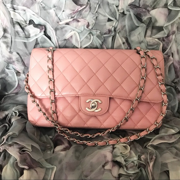 33e679eb99 CHANEL Bags | 255 Double Flap Caviar Bag In Pink | Poshmark